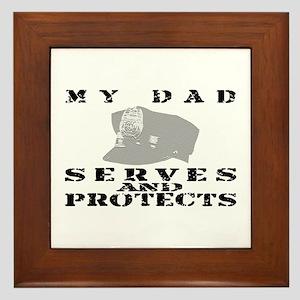 Serves & Protects Hat - Dad Framed Tile