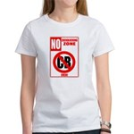 No Cockblocking Zone Women's T-Shirt