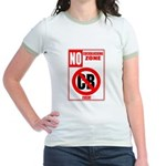 No Cockblocking Zone Jr. Ringer T-Shirt