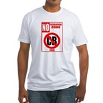 No Cockblocking Zone Fitted T-Shirt
