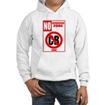 No Cockblocking Zone Hooded Sweatshirt