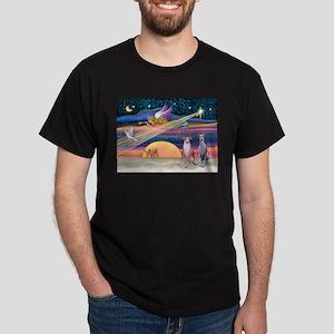 Xmas Star/2 Whippets Dark T-Shirt