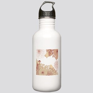 Forest birds backgroun Stainless Water Bottle 1.0L