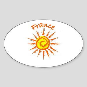 France Oval Sticker