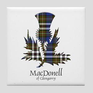 Thistle-MacDonellGlengarry dress Tile Coaster
