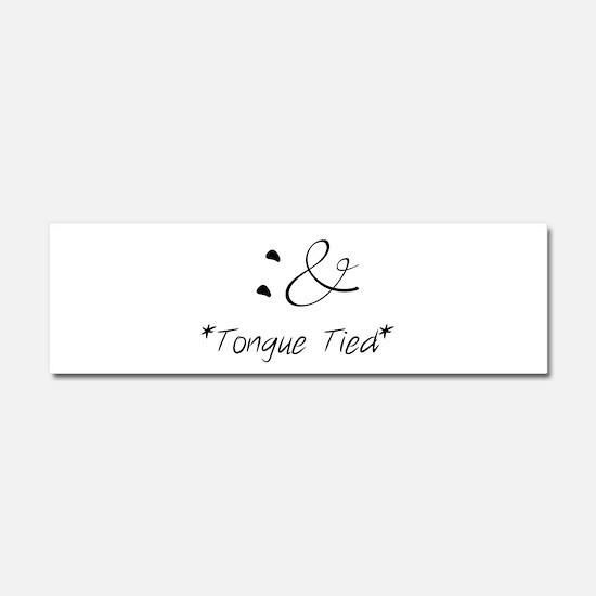 Tongue Tied Emoticon Car Magnet 10 x 3