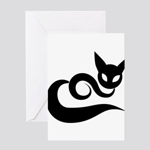 The offbeat cats design Greeting Cards
