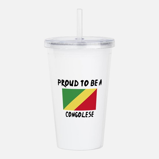 Proud To Be Congolese Acrylic Double-wall Tumbler