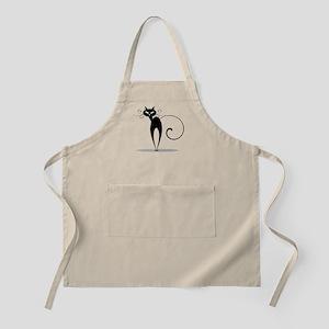 Funny black cat design Apron