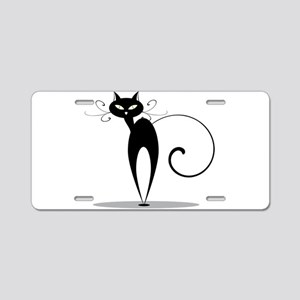 Funny black cat design Aluminum License Plate