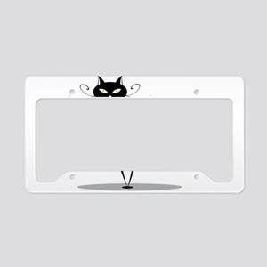 Funny black cat design License Plate Holder