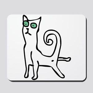 Stretching cat Mousepad