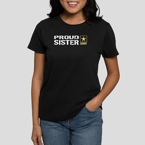 U.S. Army: Proud Sister Women's Dark T-Shirt