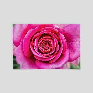 Hot Pink Rose Closeup 4' x 6' Rug