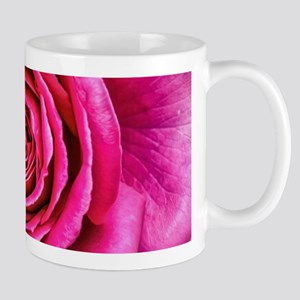 Hot Pink Rose Closeup Mug