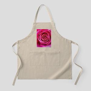 Hot Pink Rose Closeup Apron