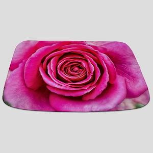 Hot Pink Rose Closeup Bathmat