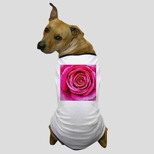Hot Pink Rose Closeup Dog T-Shirt