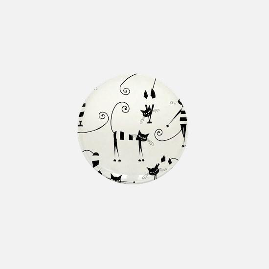 Amusing cats design set Mini Button (10 pack)