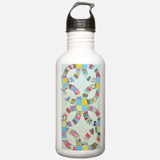 Colorful patchwork qui Water Bottle
