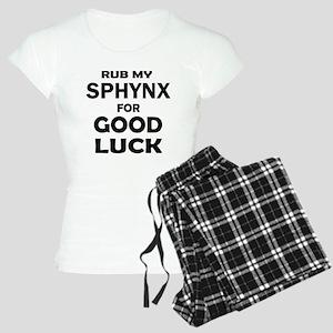 Rub my Sphynx for good luck Women's Light Pajamas
