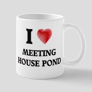I love Meeting House Pond Massachusetts Mugs