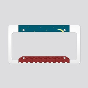 Cat on the roof License Plate Holder