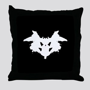 Rorschach Inkblot Throw Pillow