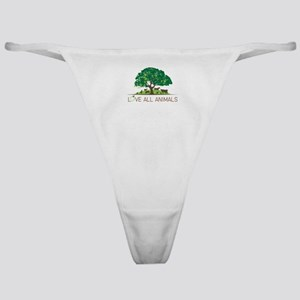love all animals Classic Thong