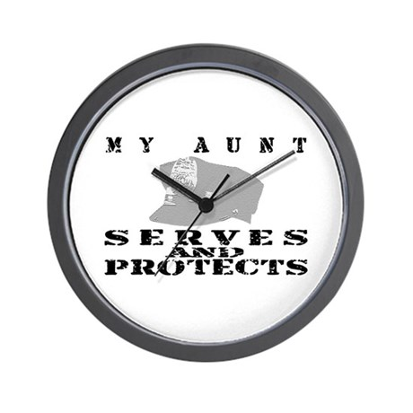 Serves & Protects Hat - Aunt Wall Clock