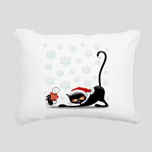 Christmas funny cats Rectangular Canvas Pillow
