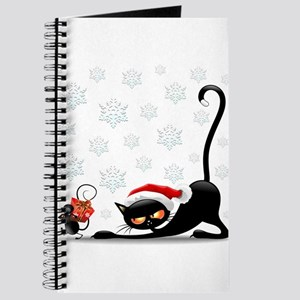 Christmas funny cats Journal