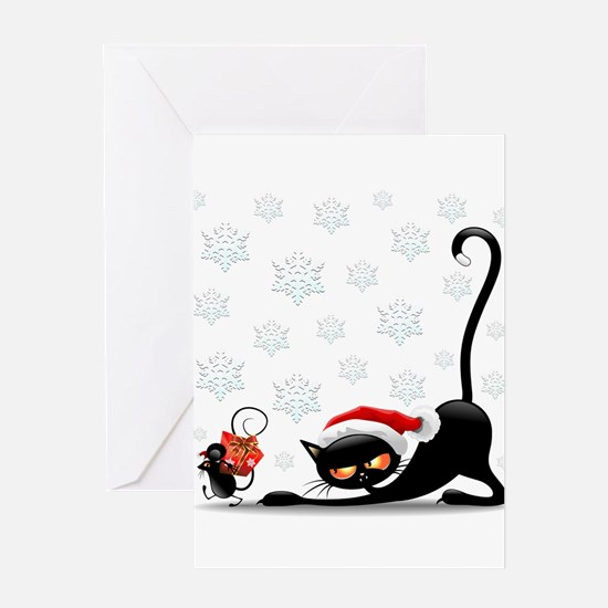 Christmas funny cats Greeting Cards