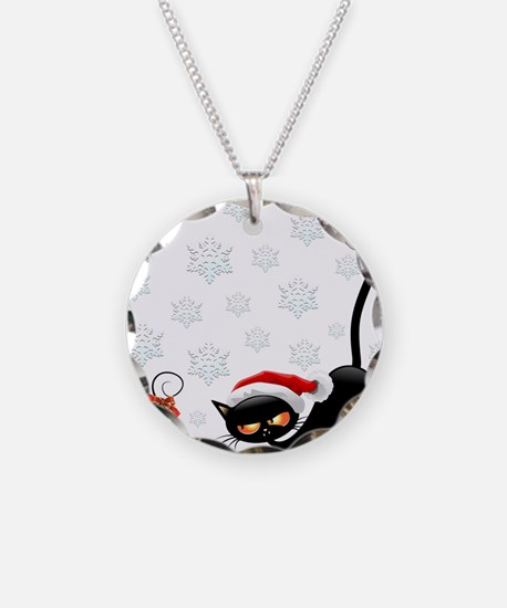 Christmas funny cats Necklace