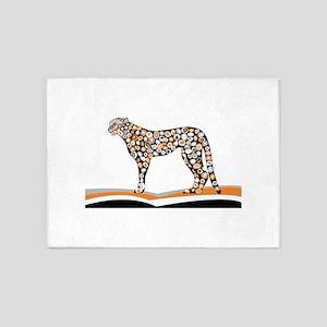 Pattern tiger sketch 5'x7'Area Rug
