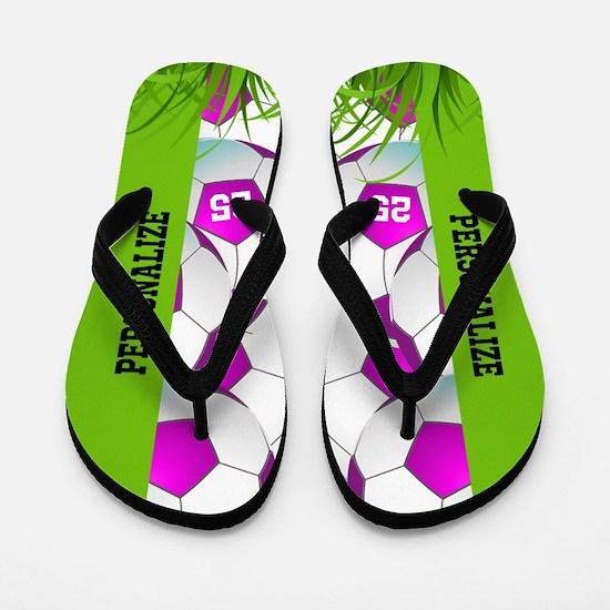 Soccer Girl Custom Flip Flops