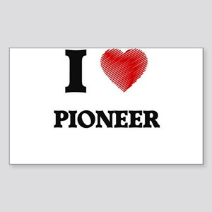 I love Pioneer Massachusetts Sticker