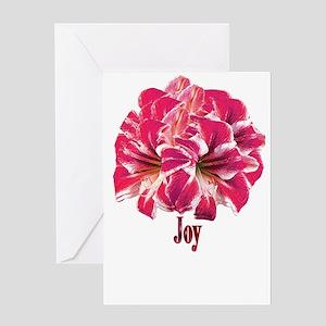Amaryllis Holiday Joy Greeting Card