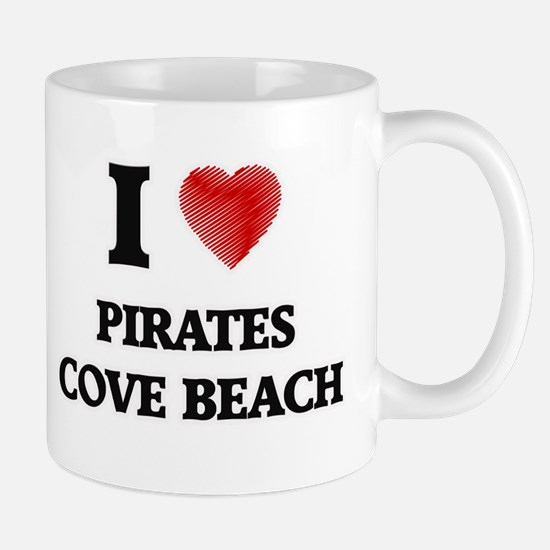 I love Pirates Cove Beach New Hampshire Mugs