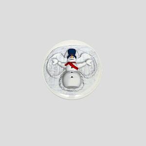 Snowman Snow Angel Mini Button
