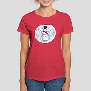 Snowman Snow Angel Women's Dark T-Shirt
