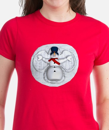Snowman Snow Angel Women's Dark T-Shirt