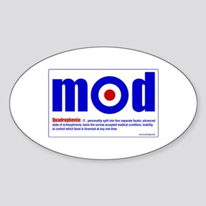 Quadraphenia... Oval Sticker