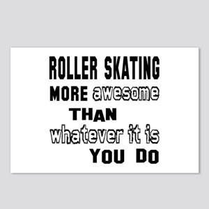 Roller Skating more aweso Postcards (Package of 8)