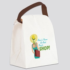 Day To Shop Canvas Lunch Bag