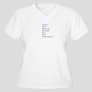 7 Ps blue Plus Size T-Shirt