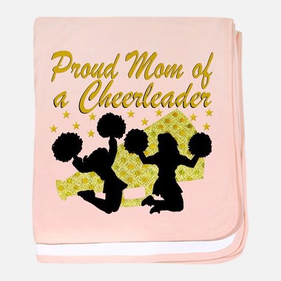 CHEERLEAD MOM baby blanket