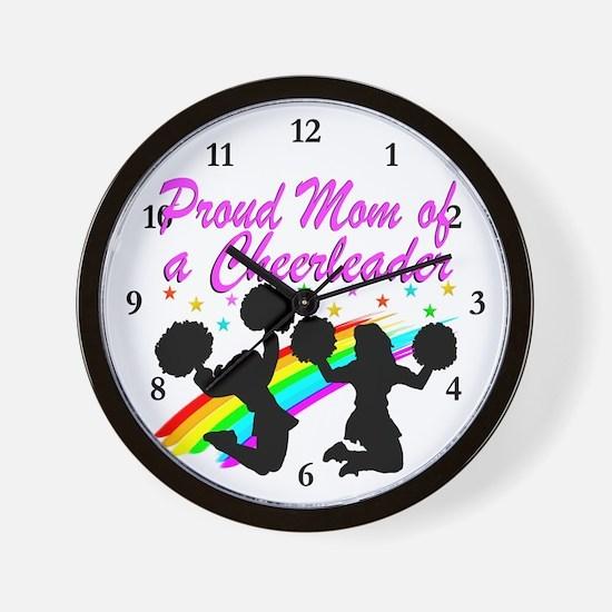 CHEERLEAD MOM Wall Clock