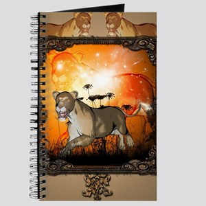 Lioness in a frame Journal