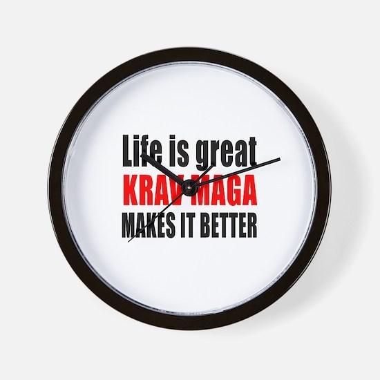 Krav Maga Martial Arts Makes Life Bette Wall Clock